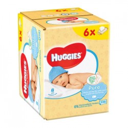 Huggies Baby Pure Wipes 6x56 - 336 Counts
