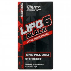 Nutrex Research Lipo 6 Black Ultra Concentrate Fat Destroyer