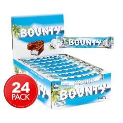 Bounty Milk Chocolate Bar - 24 Bars(57g Each)