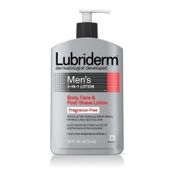 Lubriderm Men's 3-in-1 Fragrance-Free Lotion - 473ml