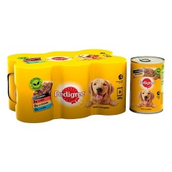 Pedigree Adult Wet Dog Food Tins Country Casseroles in Gravy 6 x 400g